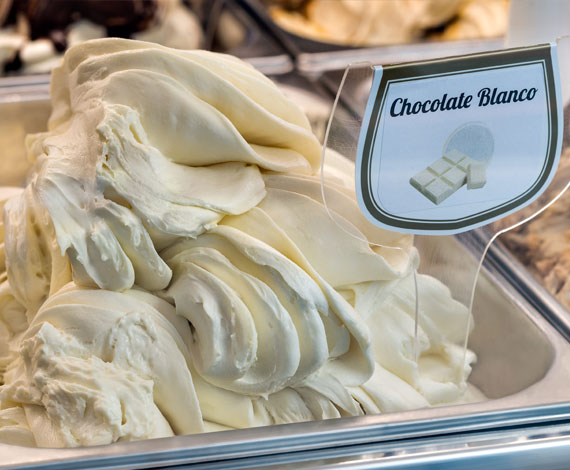 Helado de chocolate blanco